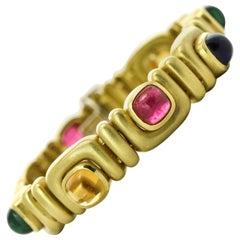 Marlene Stowe Tourmaline, Amethyst and Citrine 18 Karat Gold Gemstone Bracelet