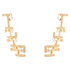 Marli New York 18 Karat Gold and Diamond Avenues Earrings