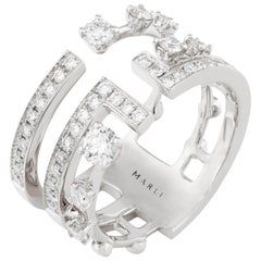 MARLI New York 18 Karat Gold and Diamond Avenues Ring