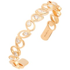 Marli New York 18 Karat Gold Rock Multi-Shape Statement Bracelet