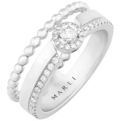 MARLI New York 18 Karat Gold Rock Round Ring