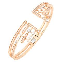 Marli New York Gold Diamond Bracelet, Avenues Hinged Bracelet