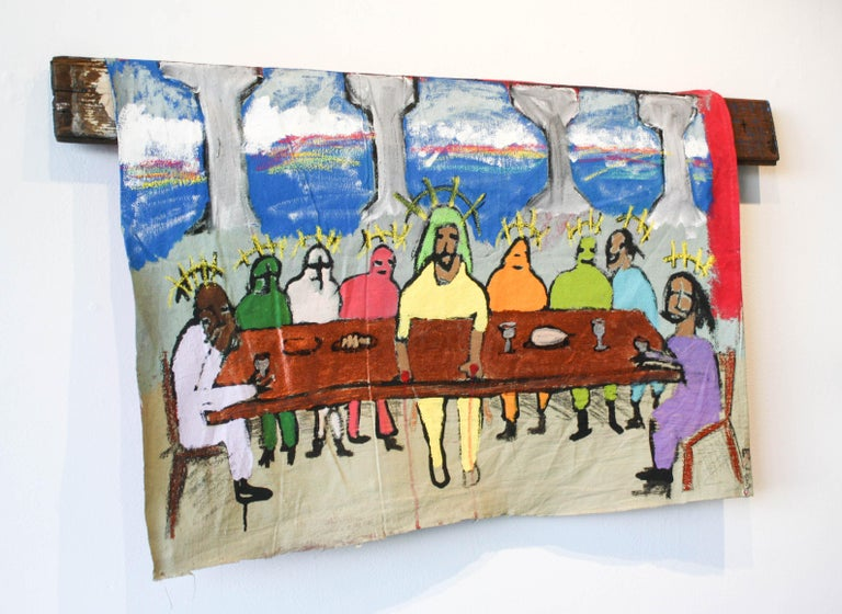 The Last Suppa  - Painting by Marlos E'van