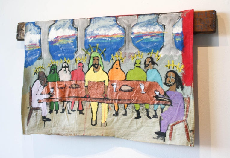 The Last Suppa  - Neo-Expressionist Painting by Marlos E'van