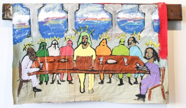 Marlos E'van Figurative Painting - The Last Suppa
