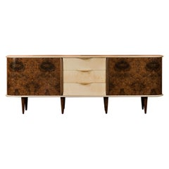 Marlstone Contemporary Walnut and English Rippled Sycamore Sideboard