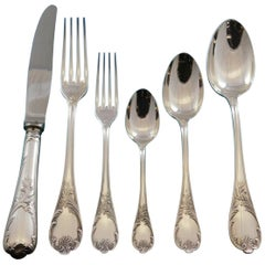 Marly by Christofle Silver Plate Flatware Set Service for 8 Dinner 51 Pcs France