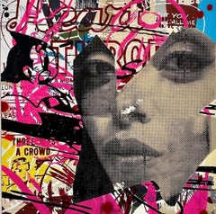 Heart Throb_Marly McFly_2021_Acrylic/Wood Panel_Pop Art/Figurative/Text
