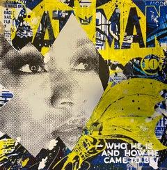 Secret Identity_Marly McFly_2021_Acrylic/Wood Panel_Figurative/Pop Art/Text
