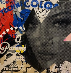 Technicolor_Marly McFly_2021_Acrylic/Wood Panel_Pop Art/Figurative/Text