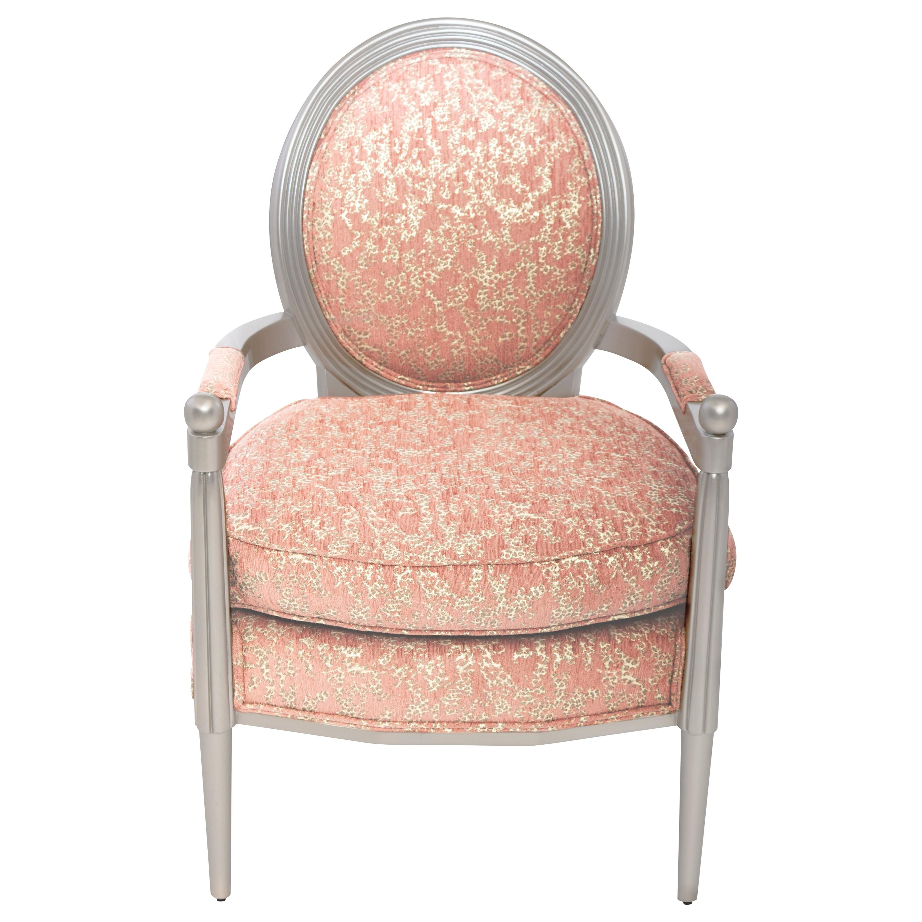 Marmont Accent Chair II in Rose & Silver Leaf by Innova Luxuxy Group