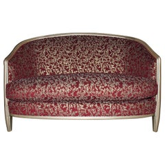 Marmont Loveseat in Champagne & Crimson by Badgley Mischka Home