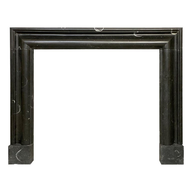 Marmorea Bolection Fireplace Mantel in Irish Kilkenny Marble For Sale