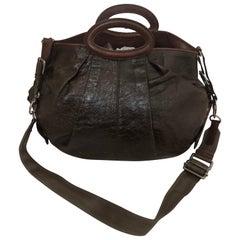 MARNI Baloon Leather Two-Way Hobo Handbag
