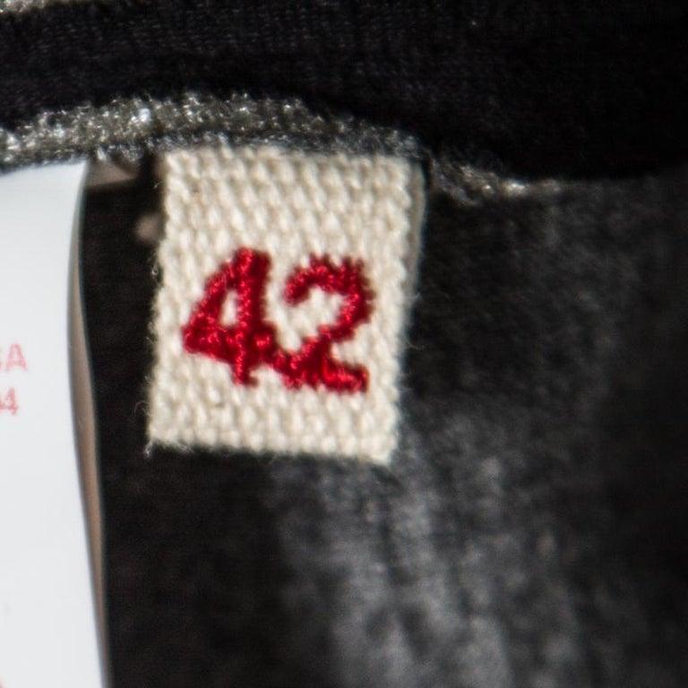 Marni Black Floral Sequin Embellished Zip Front Padded Jacket M For Sale 2