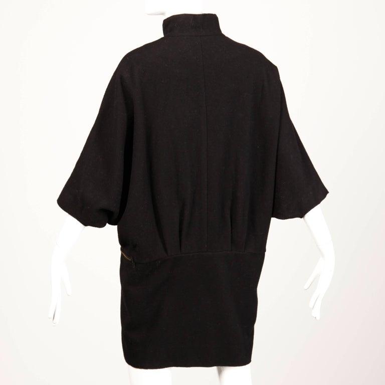 Women's Marni Black Wool Cape Coat For Sale