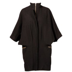 Marni Black Wool Cape Coat