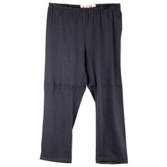 Marni Blue Stretch Jersey Cropped Leggings Pants Size 44