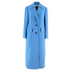 Marni Blue Virgin Wool Long Coat 40 S