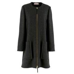 Marni Charcoal Wool Swing Coat 42 IT