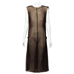 MARNI Chocolate Mesh Dress
