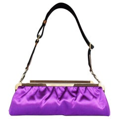 Marni Clutch In Purple Satin