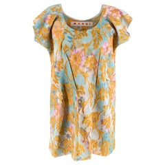 Marni Floral Embroidered Jacquard Sleeveless Top S 42
