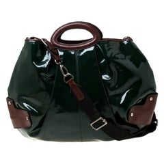 Marni Green/Brown Patent Leather New Balloon Hobo