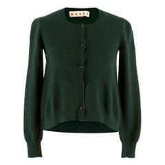 Marni Green Cashmere Cardigan SIZE 36