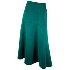 Marni Hunter Green Scuba Skirt