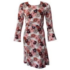 Marni Long Sleeve Pink Floral Dress