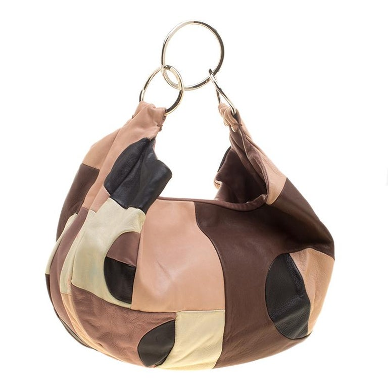 Marni Multicolor Leather Hobo In Good Condition For Sale In Dubai, Al Qouz 2