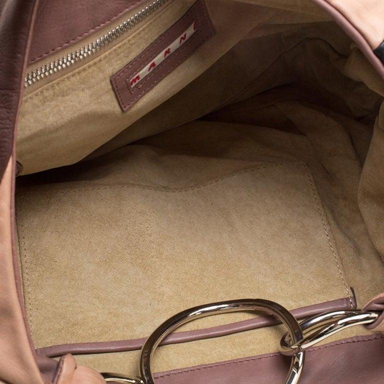 Marni Multicolor Leather Hobo For Sale 2