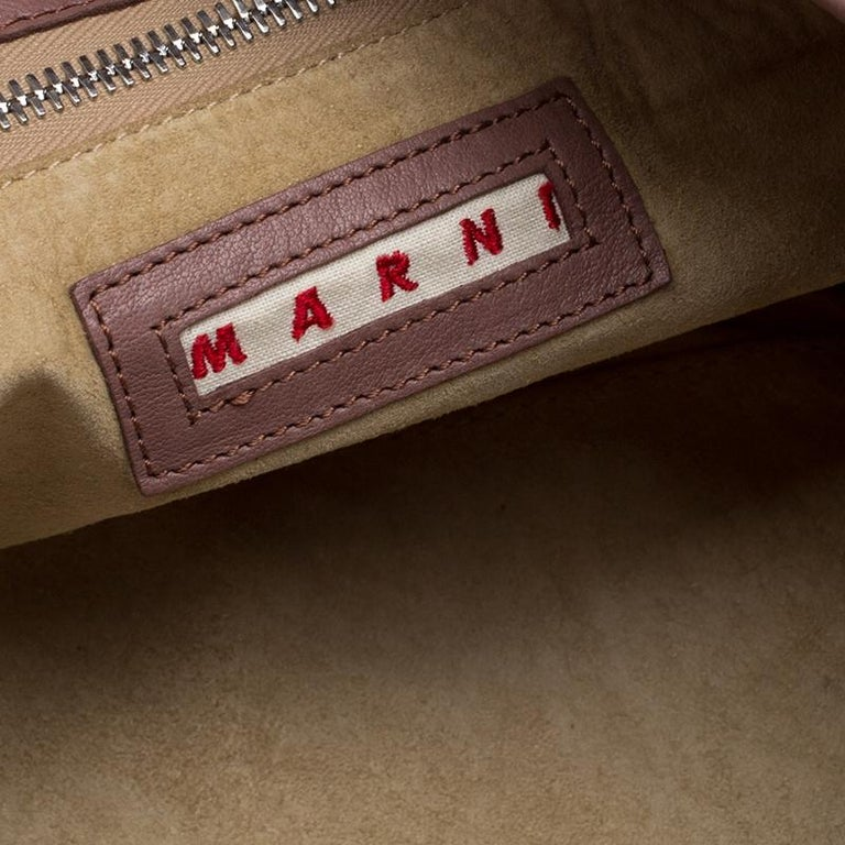 Marni Multicolor Leather Hobo For Sale 3