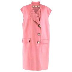 Marni Pink Sleeveless Wool Blend Coat - Size US 6