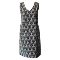 Marni Printed Blue and White Seashell Dress Size 40