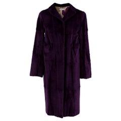 Marni Purple Rabbit Fur Coat - Size US 4