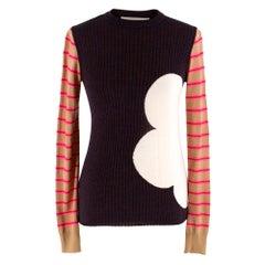 Marni Ribbed Intarsia Wool Sweater SIZE 38 IT