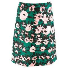 Marni Silk Blend Printed Skirt XS 36