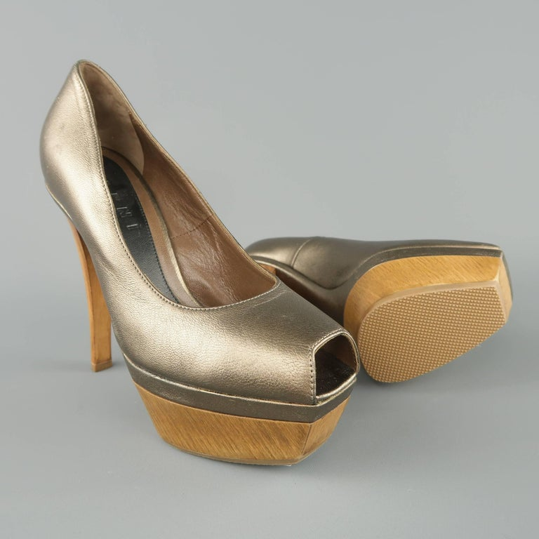 Marni Distressed Leather Pumps Cheap Sale With Paypal Clearance Factory Outlet CIvkGuQK