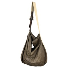 MARNI Solid Brown Soft Leather Oversized Hobo Shoulder Bag