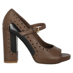 Marni Woman Pumps Brown Leather IT 36