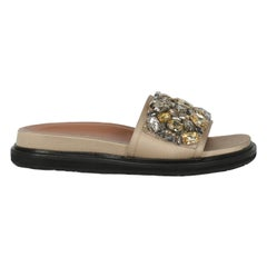 Marni Women  Slippers Gold Fabric IT 39