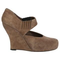 Marni Women  Wedges Beige Leather IT 39