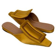 Marni Yellow Satin Mules