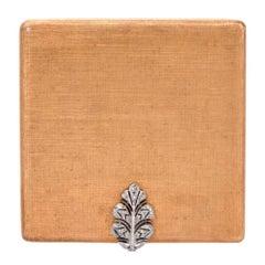Maro Buccellati Vintage Diamond Gold Compact Box