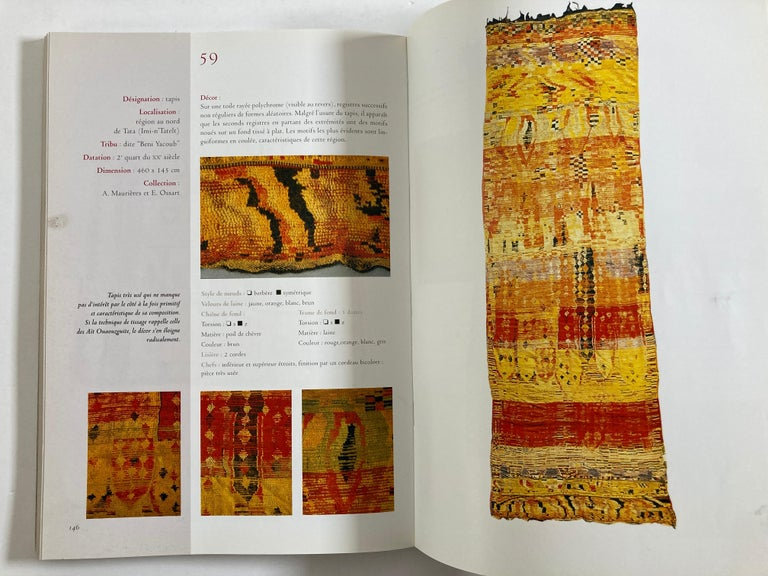 Maroc Tapis de tribus 'French' Moroccan Tribal Rugs Paperback Book For Sale 6