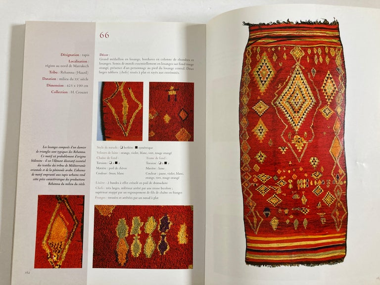 Maroc Tapis de tribus 'French' Moroccan Tribal Rugs Paperback Book For Sale 7