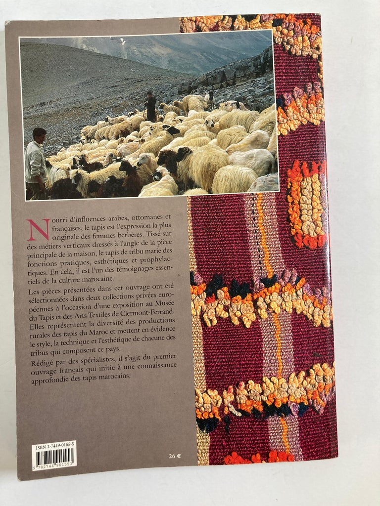 Maroc Tapis de tribus 'French' Moroccan Tribal Rugs Paperback Book In Good Condition For Sale In North Hollywood, CA