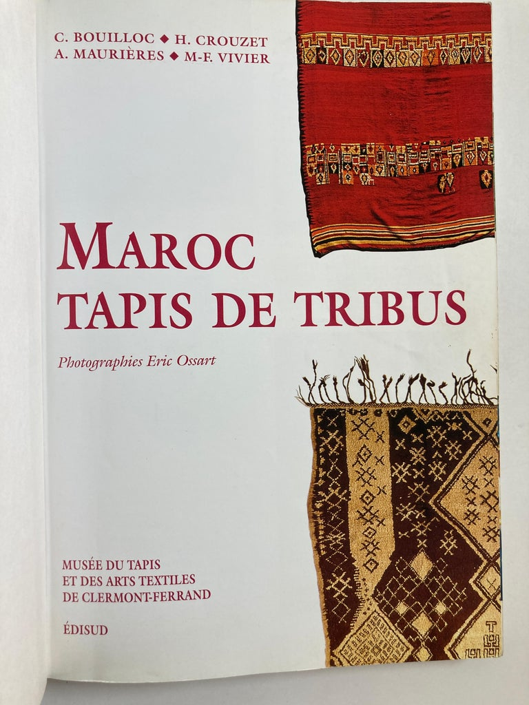 Maroc Tapis de tribus 'French' Moroccan Tribal Rugs Paperback Book For Sale 2